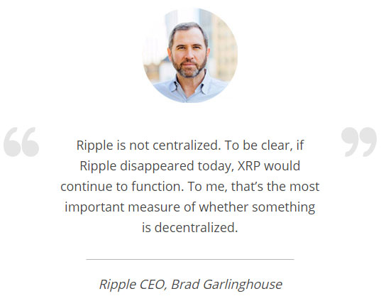 ripple-xrp-centralization-brad-garlinghouse-نقل قول